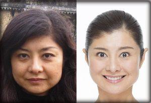 間々田佳子,顔ヨガ,ビフォーアフター