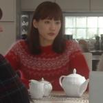 奥様は取り扱い注意衣装!9話綾瀬はるか赤の柄セーターが可愛い!ブランドはどこ?