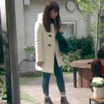 隣の家族は青く見える、深田恭子衣装靴!二話白コート&グレーブーツが可愛い!ブランドはどこ?